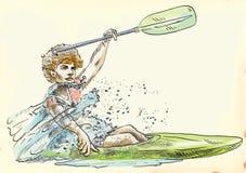 Canoe racer Stock Images