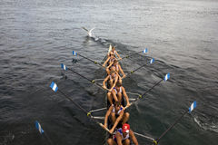 Canoe racers Stock Photo