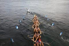 Canoe racers stock photo