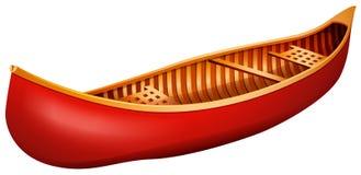 Canoe. Red canoe made of wood Stock Photography