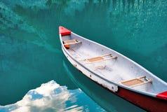 Canoe in reflection Royalty Free Stock Photos