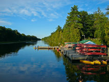 Canoe Rental. At the river. Pnery park royalty free stock images