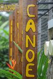 Conoe wooden sign Stock Photography