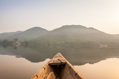 Canoe ride in Africa Stock Images