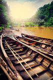 Canoe in the river. This photo at Cikaso River, West Java, Indonesia Stock Photography