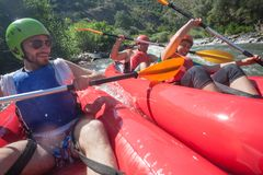Canoe River Collision Royalty Free Stock Images