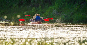 Canoe river Royalty Free Stock Photo