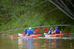 Canoe river Royalty Free Stock Photography