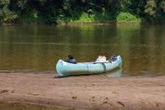 Canoe on the River Stock Photo