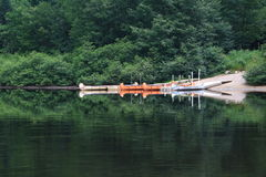 Canoe. On river in Quebec Stock Photos