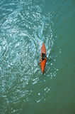 Canoe on a river Royalty Free Stock Images