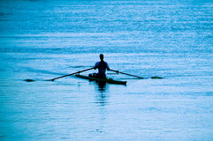 Canoe rowing Royalty Free Stock Photo