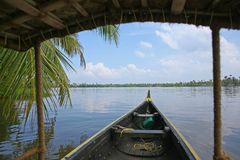 Dreamy day on the Keralan Backwaters Stock Image