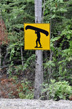 Canoe sign. Stock Image
