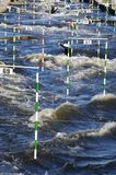 Canoe slalom canal Stock Photography