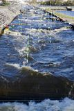 Canoe slalom canal Royalty Free Stock Images