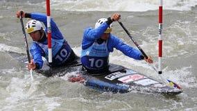 Canoe slalom ICF European Championship - Tomas Kucera and Jan Batik ( Slovakia ) Stock Images