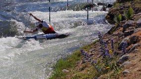 Canoe slalom ICF World Cup - David Florence ( Great Britain ) Royalty Free Stock Photo