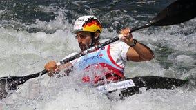 Canoe slalom ICF World Cup - Hannes Aigner ( Germany ) Stock Photos