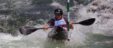 Canoe slalom ICF World Cup - Ondrej Tunka ( Czech republic ) Royalty Free Stock Images