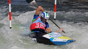 Canoe slalom ICF World Cup - Pedro da Silva ( Brasil ) Stock Photo