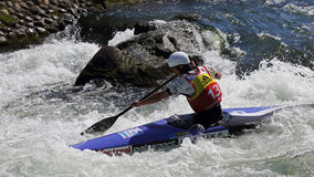 Canoe slalom ICF World Cup - Stanislav Jezek ( Czech Republic ) royalty free stock photos