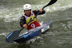 Free Canoe Slalom ICF World Cup, Stefanie Horn, Italy Stock Photography - 120050922