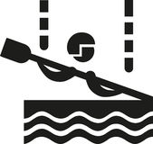 Canoe slalom icon. Pictogram boat Royalty Free Stock Images