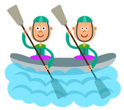 Canoe sport Royalty Free Stock Photo