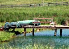 Canoe su un bacino Fotografia Stock Libera da Diritti