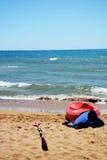 Canoe sulla sabbia della spiaggia fotografia stock libera da diritti