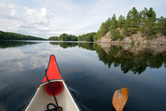 Canoe Sweden Stock Photography