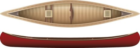 Canoe. Top and side view of a canoe Stock Illustration