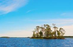Canoe Travel On Blue Lake