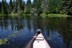 Canoe trip II. Stock Images