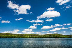 Canoe trip on the lake Royalty Free Stock Photography