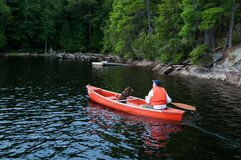 Canoe tripping Royalty Free Stock Images