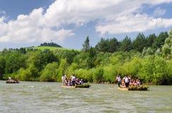 Canoe trips on river Dunajec, Slovakia Stock Image