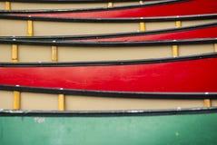 Canoe in truppa fotografia stock