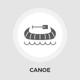 Canoe Vector Flat Icon. Canoe icon vector. Flat icon isolated on the white background. Editable EPS file. Vector illustration Royalty Free Stock Image