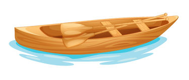 Canoe on water royalty free illustration