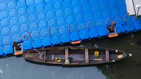 Canoe on water stock photo