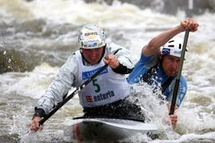 Canoe water slalom - world cup in Prague Stock Images