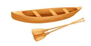 Canoe on white Stock Photos