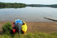 Canoeing в парке Algonquin захолустном стоковая фотография rf