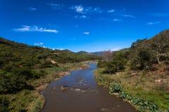Canoeing долина Inanda двойника гонки Dusi одиночная Стоковые Фото