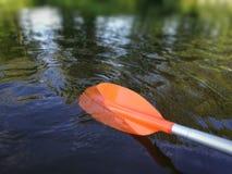 Canoeing затвор стоковые изображения