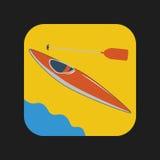 Canoeing значок Стоковые Изображения