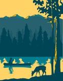 canoeing идти иллюстрация вектора