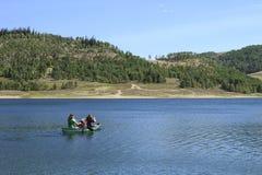Canoeing на резервуаре Кливленда Стоковое Изображение RF